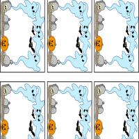 Playful Ghosts Name Tags