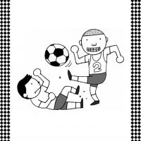 Playing Soccer Flash Card