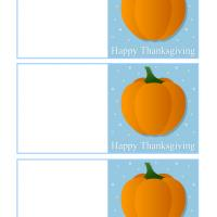 Pumpkin Thanksgiving Cards