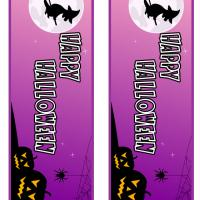 Purple Halloween Bookmark