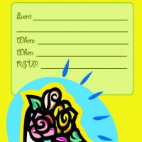 Roses with Bright Yellow Background Invitation