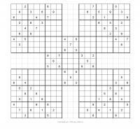 graphic regarding Free Printable Samurai Sudoku titled Samurai Sudoku Puzzle 5