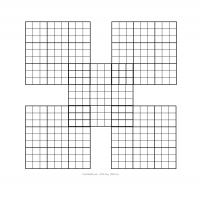 image regarding Printable Sudoku Grids identified as Samurai Sudoku Puzzle Blank Grid