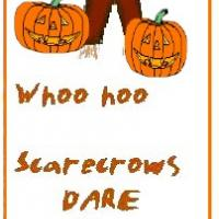 Scarecrow and Pumpkin Bookmark
