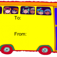 School Bus Gift Card