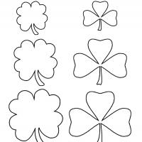 image relating to Shamrock Template Printable Free named Shamrock Template