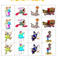 Silly Circus Memory Game