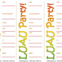 graphic regarding Printable Luau Invitations identified as Easy Luau Occasion Invite