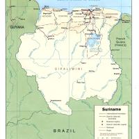 South America- Suriname Political Map