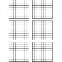 Sweet image within blank sudoku grid printable