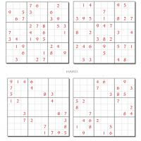 Sudoku Puzzle Sheet With Hard And Easy Games