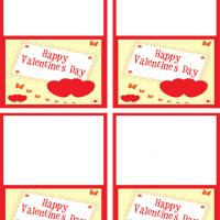 Twin Hearts Valentine's Day Gift Cards