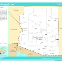 Map Of Arizona Counties And Cities.Us Map Arizona County With Selected Cities And Towns