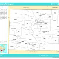 US Map- Colorado Counties with Selected Cities and Towns