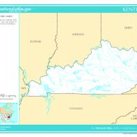 US Map- Kentucky Rivers and Streams