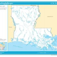 US Map- Louisiana Rivers and Streams