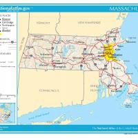 US Map- Massachusetts General Reference