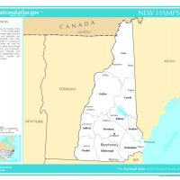 US Map- New Hampshire Counties with Selected Cities and Towns