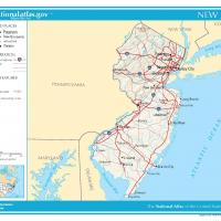 US Map- New Jersey General Reference