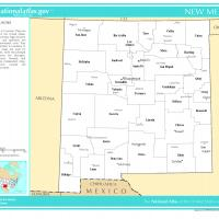 US Map- New Mexico Counties with Selected Cities and Towns