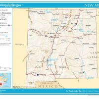 US Map- New Mexico General Reference