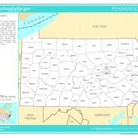 US Map- Pennsylvania Counties