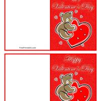 Valentine Bear Gift Cards