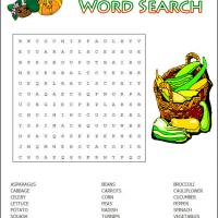 Vegetables Word Search